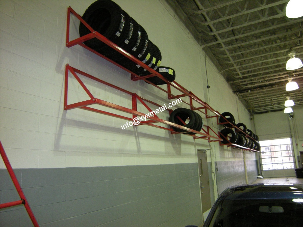 wall mount rack for tires